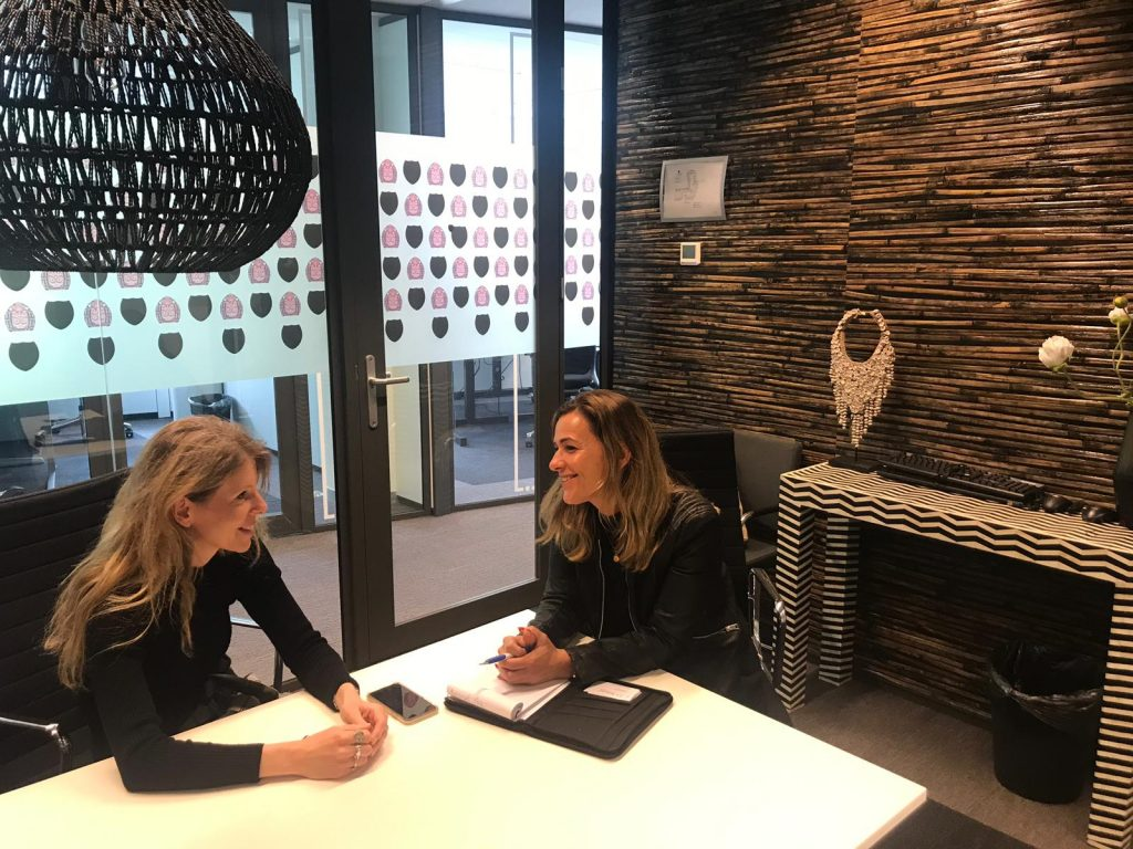 Recruiter Sandra de Kruijk bezocht Maarit bij BuZA