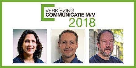 Dit zijn de 3 finalisten voor de Communicatieman/vrouw 2018