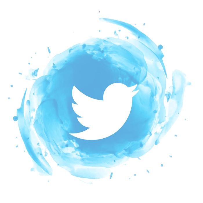 Icoon van Twitter