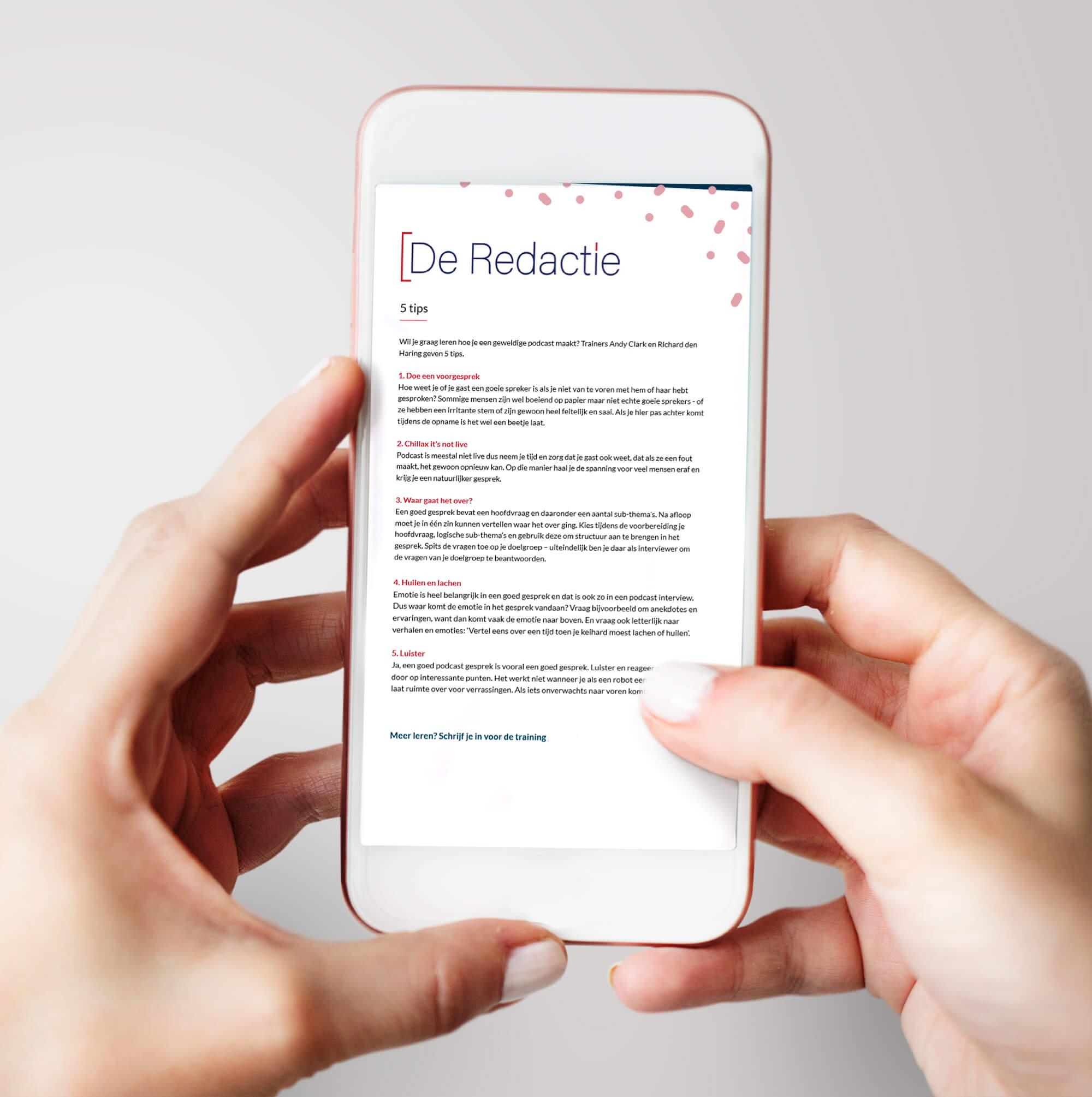 PDF met tips die je op de website van De Redactie kunt downloaden