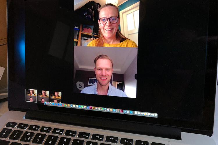 Intakeredacteur Conny Meijssen ontmoet contentmakers via Skype