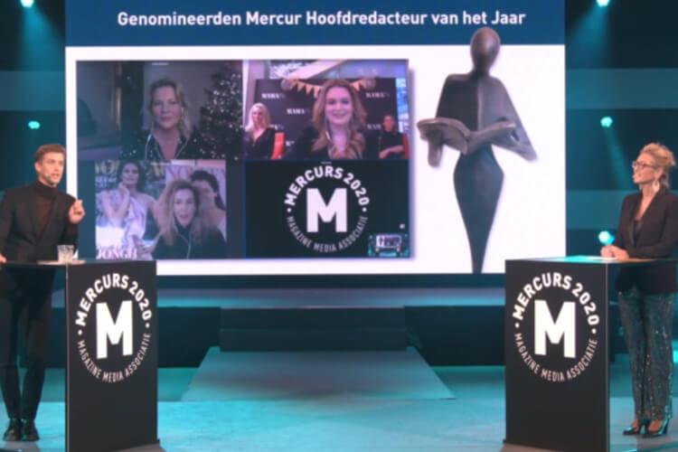 Deze foto is genomen tijdens de virtuele uitreiking van Mercurs 2020.